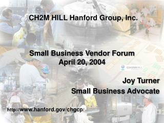 Small Business Vendor Forum April 20, 2004