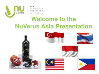 Welcome to the  NuVerus  Asia Presentation