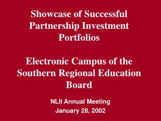 NLII Annual Meeting January 28, 2002
