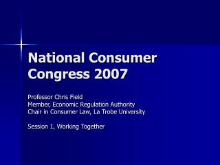 National Consumer Congress 2007