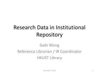Research Data in Institutional Repository
