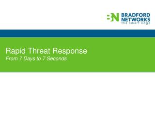 Rapid Threat Response From 7 Days to 7 Seconds