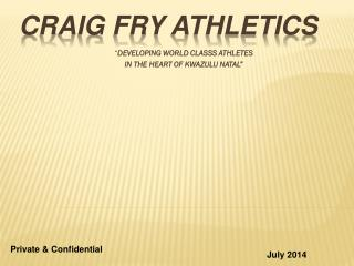 Craig fry ATHLETICS