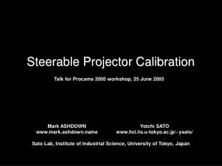 Steerable Projector Calibration