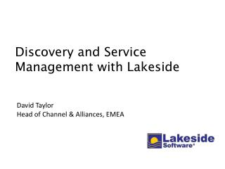 Discovery and Service Management with Lakeside