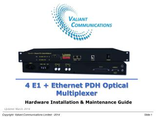 4 E1 + Ethernet PDH Optical Multiplexer