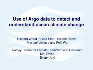 Use of Argo data to detect and understand ocean climate change
