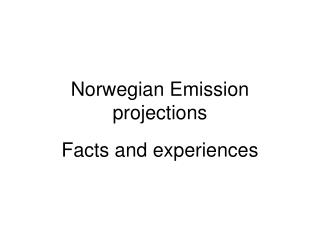 Norwegian Emission projections