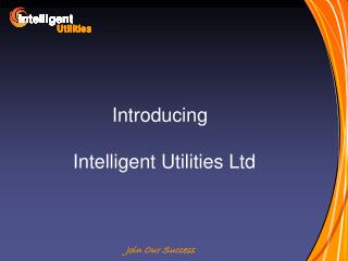 Introducing	 Intelligent Utilities Ltd