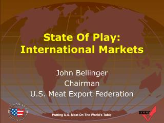 State Of Play: International Markets
