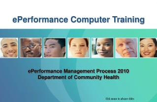 ePerformance Management Process 2010  Department of Community Health