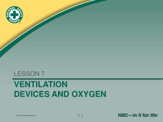 VENTILATION  DEVICES AND OXYGEN