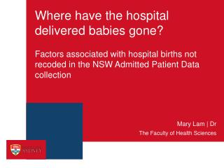 Where have the hospital delivered babies gone?