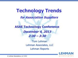 Technology Trends for Association Suppliers