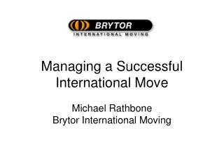 Managing a Successful International Move