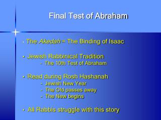 Final Test of Abraham
