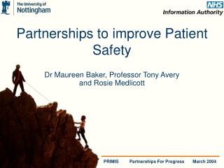 Partnerships to improve Patient Safety