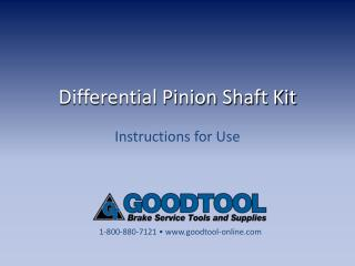 Differential Pinion Shaft Kit