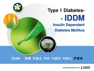 Type 1 Diabetes-  -  IDDM Insulin Dependent  Diabetes Mellitus