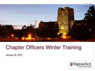 Chapter Officers Winter Training