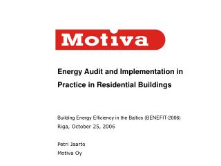 Energy Audit and Implementation in Practice in Residential Buildings