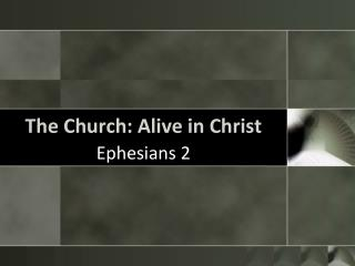 The Church: Alive in Christ