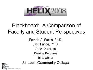 Blackboard:  A Comparison of Faculty and Student Perspectives