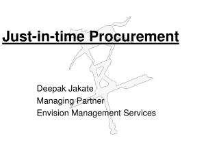 Just-in-time Procurement