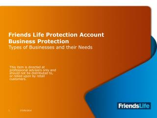Friends Life Protection Account Business Protection