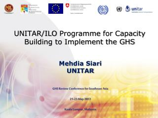 UNITAR/ILO  Programme  for Capacity Building to Implement the GHS