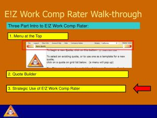 E!Z Work Comp Rater Walk-through