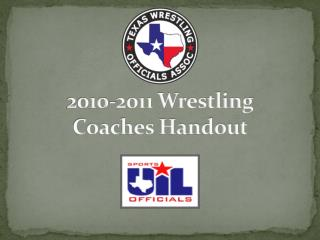 2010-2011 Wrestling Coaches Handout