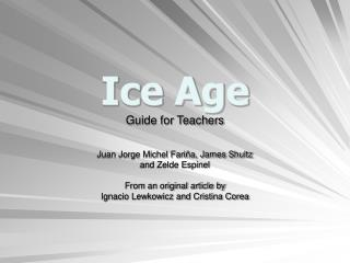 Ice Age Guide for Teachers