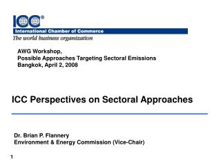 ICC Perspectives on Sectoral Approaches