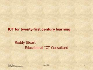 ICT for twenty-first century learning