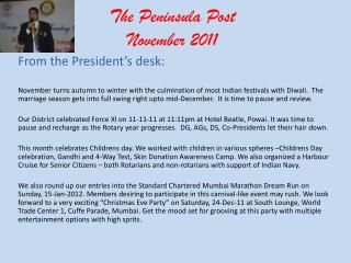 The Peninsula Post November 2011