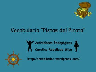 "Vocabulario ""Pistas del Pirata"""