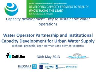 Capacity development  -  key to sustainable  water operations