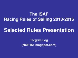 Free  download from: sailing/documents/ racingrules