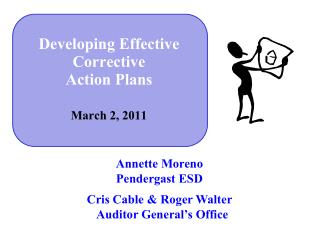 Developing Effective Corrective  Action Plans March 2, 2011