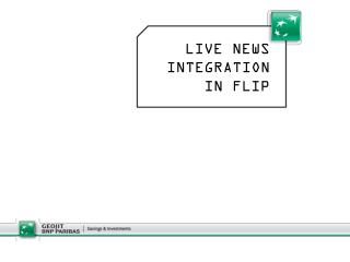 LIVE NEWS INTEGRATION IN FLIP