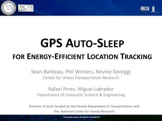 GPS Auto-Sleep  for Energy-Efficient Location Tracking