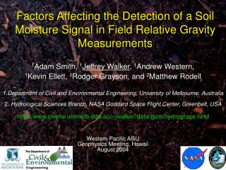 Factors Affecting the Detection of a Soil Moisture Signal in Field Relative Gravity Measurements