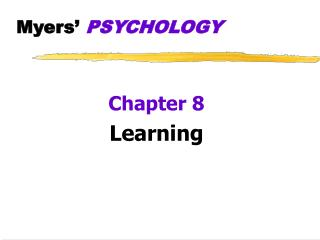 Myers'  PSYCHOLOGY