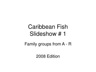 Caribbean Fish Slideshow # 1