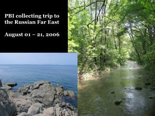 PBI collecting trip to the Russian Far East August 01 – 21, 2006