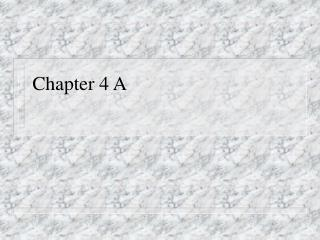 Chapter 4 A