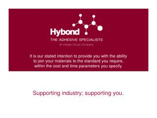 Supporting  industry ; supporting you .