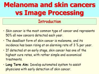 Melanoma and skin cancers  vs  Image Processing
