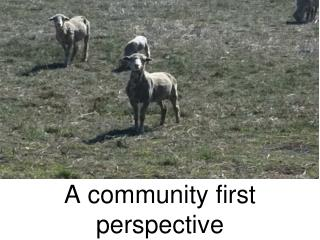 A community first perspective